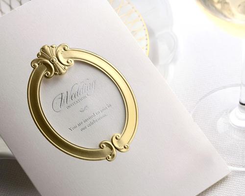 結婚式招待状(手作りキット) ミロワールG(ゴールド) サポート画像1 (拡大)