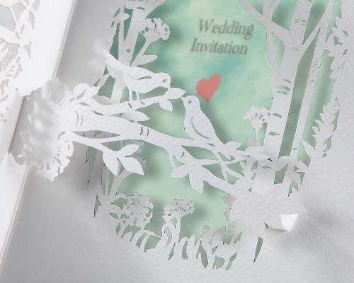 結婚式招待状(手作りキット) フォリアA サポート画像1 (拡大)