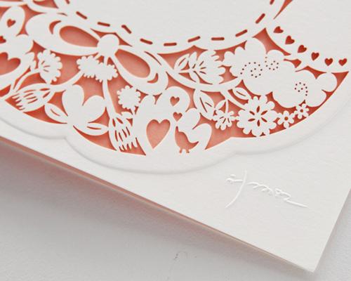 結婚式招待状(手作りキット) ラマージュA サポート画像1 (拡大)
