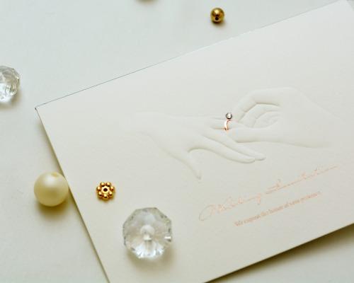 結婚式招待状(手作りキット) リングD(ダイヤ) サポート画像1 (拡大)