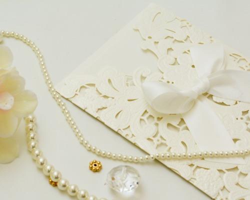 結婚式招待状(手作りキット) レガロW(ホワイト) サポート画像1 (拡大)