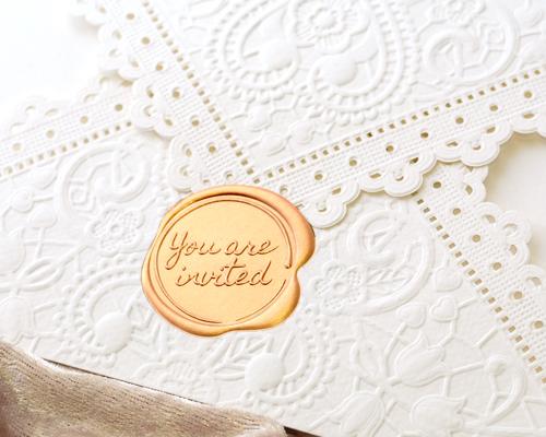 結婚式招待状(手作りキット) レットルW(ホワイト) サポート画像1 (拡大)