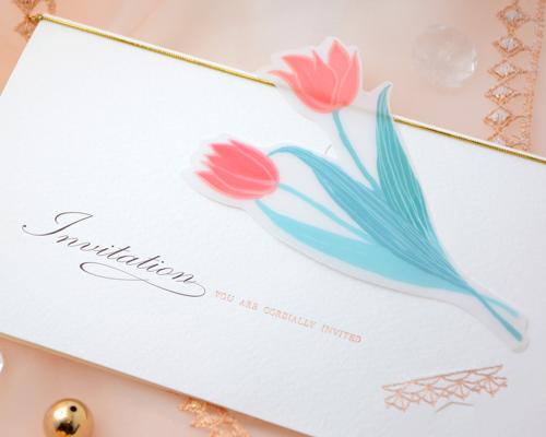 結婚式招待状(手作りキット) チューリップB サポート画像1 (拡大)