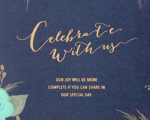 結婚式招待状(手作りキット) ブロッサムBL サポート画像1 (拡大)