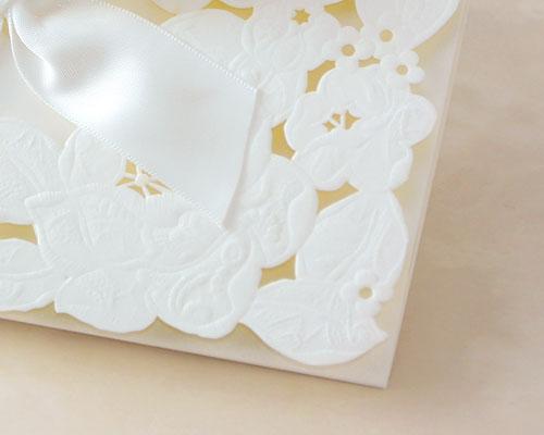 結婚式招待状(手作りキット) ウエディングレース サポート画像1 (拡大)