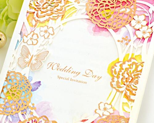 結婚式招待状(手作りキット) フラワリー サポート画像1 (拡大)