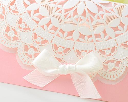 結婚式招待状(手作りキット) セントポーリアP(ピンク) サポート画像1 (拡大)