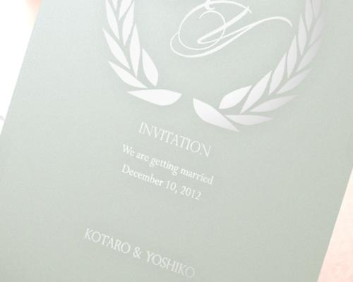 結婚式招待状(手作りキット) クレールAQ(アクア)【Name on Card タイプ】 サポート画像1 (拡大)