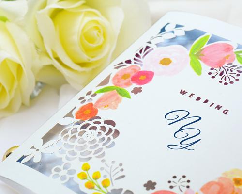 結婚式招待状(手作りキット) コクリコA【Name on Card タイプ】 サポート画像1 (拡大)
