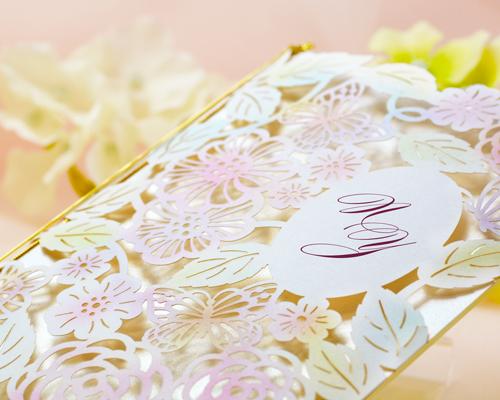結婚式招待状(手作りキット) フロラシオンA【Name on Card タイプ】 サポート画像1 (拡大)