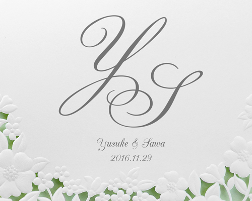 結婚式招待状(手作りキット) パティオGY(グレー)【Name on Card タイプ】 サポート画像1 (拡大)