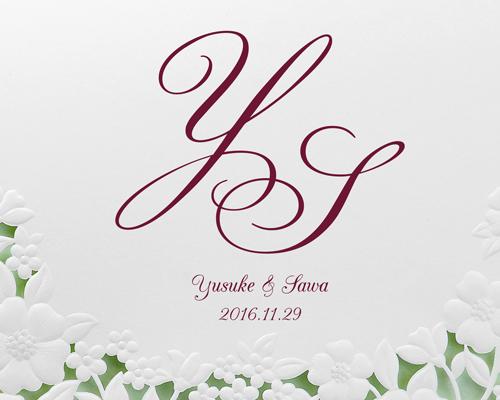 結婚式招待状(手作りキット) パティオWR(ワインレッド)【Name on Card タイプ】 サポート画像1 (拡大)