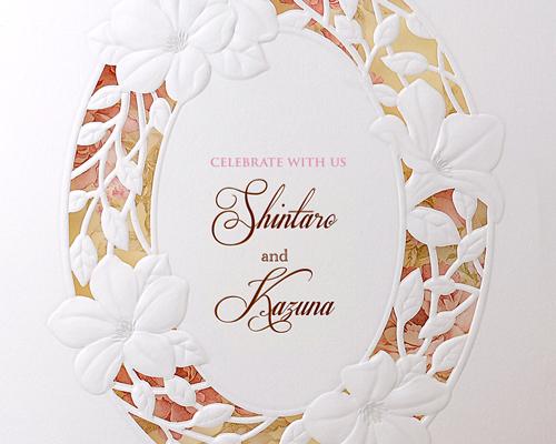 結婚式招待状(手作りキット) ノーブルBW(ブラウン)【Name on Card タイプ】 サポート画像1 (拡大)