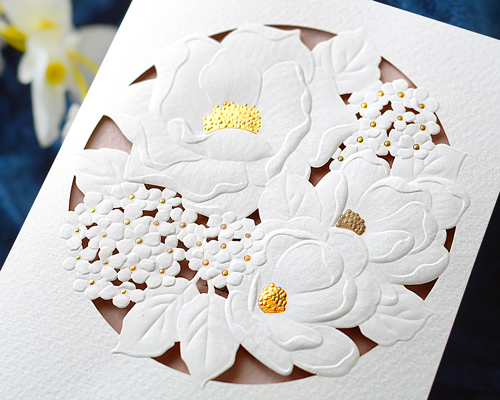 結婚式招待状(手作りキット) パルタージュA【Name on Card タイプ】 サポート画像1 (拡大)