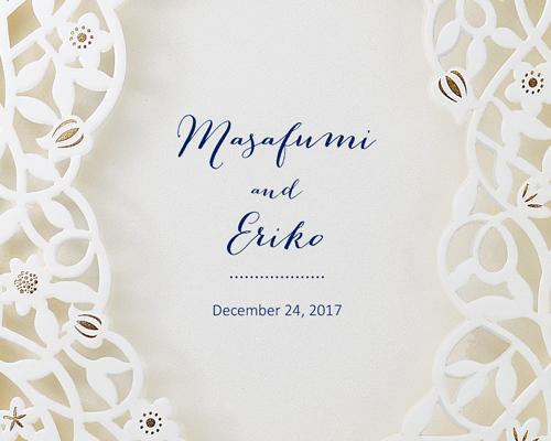 結婚式招待状(手作りキット) デリカBL(ブルー)【Name on Card タイプ】 サポート画像1 (拡大)
