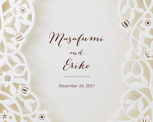 結婚式招待状(手作りキット) デリカBW(ブラウン)【Name on Card タイプ】 サポート画像1 (拡大)