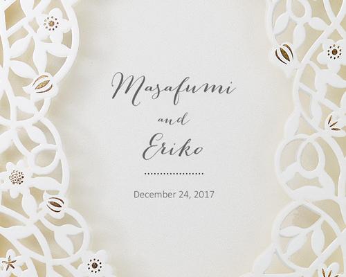 結婚式招待状(手作りキット) デリカGY(グレー)【Name on Card タイプ】 サポート画像1 (拡大)