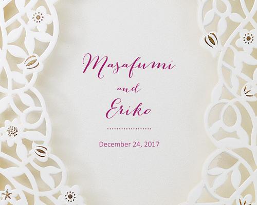 結婚式招待状(手作りキット) デリカWR(ワインレッド)【Name on Card タイプ】 サポート画像1 (拡大)