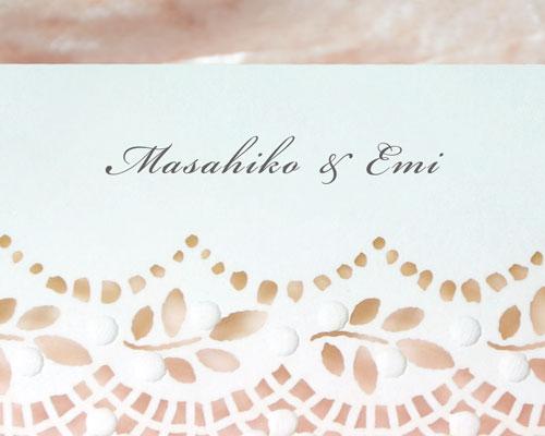結婚式招待状(手作りキット) フィーユA【Name on Card タイプ】 サポート画像1 (拡大)