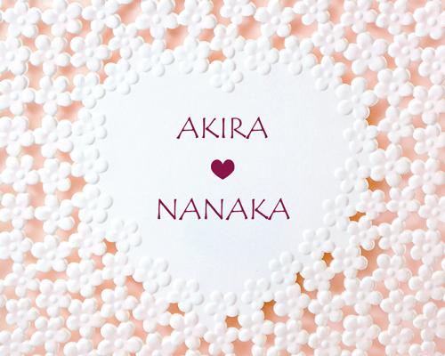 結婚式招待状(手作りキット) ラブリA【Name on Card タイプ】 サポート画像1 (拡大)