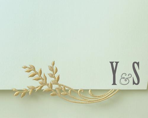 結婚式招待状(手作りキット) ブリーズA【Name on Card タイプ】 サポート画像1 (拡大)