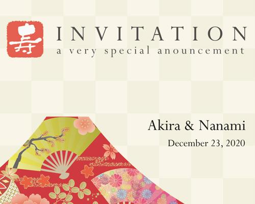 結婚式招待状(手作りキット) Akane(アカネ)A【Name on Card タイプ】 サポート画像1 (拡大)