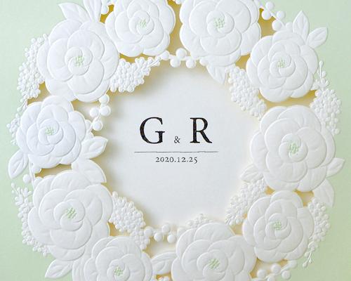結婚式招待状(手作りキット) ミントA【Name on Card タイプ】 サポート画像1 (拡大)