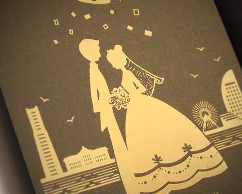 結婚式招待状(手作りキット) ハーモニー(横浜)【Name on Card タイプ】 サポート画像1 (拡大)