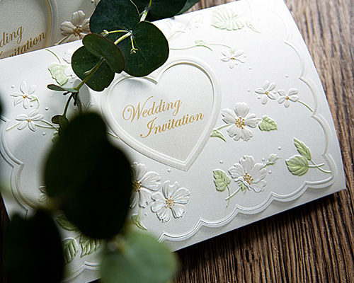 結婚式招待状(手作りキット) ラ・フルールW(ホワイト) サポート画像2 (拡大)