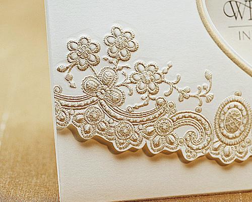 結婚式招待状(手作りキット) ブローダリーB サポート画像2 (拡大)