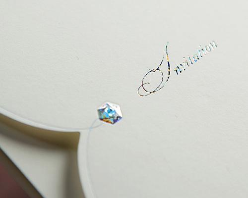 結婚式招待状(手作りキット) ビジューTW(トゥインクル) サポート画像2 (拡大)