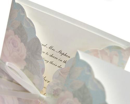 結婚式招待状(手作りキット) ギフトBL(ブルー) サポート画像2 (拡大)