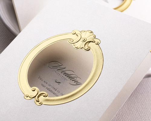 結婚式招待状(手作りキット) ミロワールG(ゴールド) サポート画像2 (拡大)
