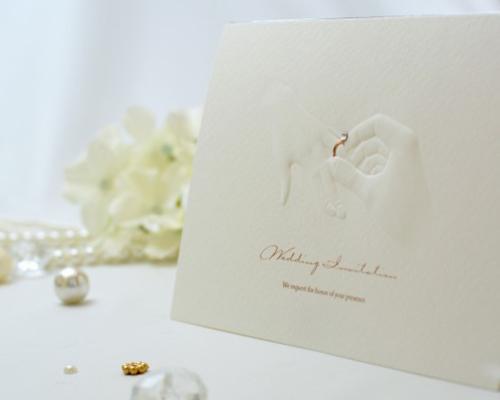 結婚式招待状(手作りキット) リングD(ダイヤ) サポート画像2 (拡大)