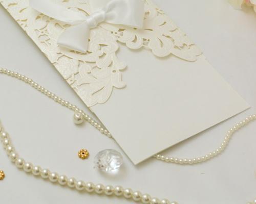 結婚式招待状(手作りキット) レガロW(ホワイト) サポート画像2 (拡大)