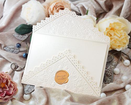 結婚式招待状(手作りキット) レットルW(ホワイト) サポート画像2 (拡大)