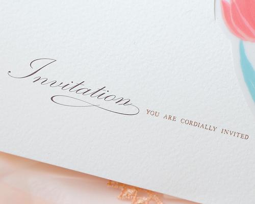 結婚式招待状(手作りキット) チューリップB サポート画像2 (拡大)