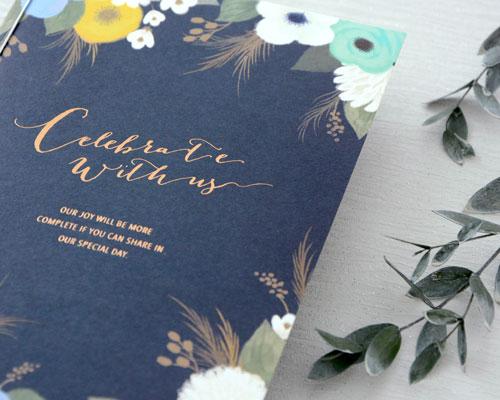 結婚式招待状(手作りキット) ブロッサムBL サポート画像2 (拡大)