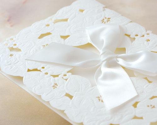 結婚式招待状(手作りキット) ウエディングレース サポート画像2 (拡大)
