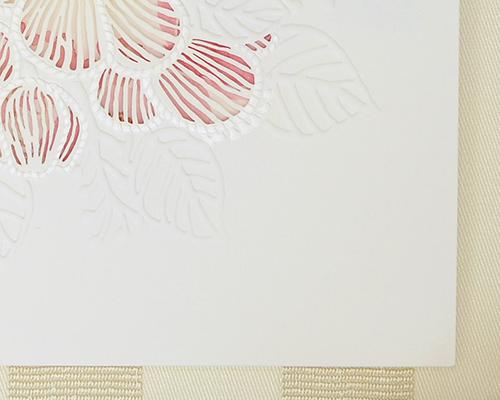結婚式招待状(手作りキット) ピオニーA サポート画像2 (拡大)