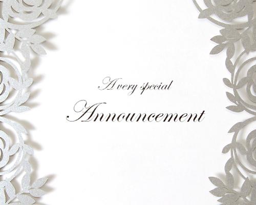 結婚式招待状(手作りキット) ジャルダンSV(シルバー) サポート画像2 (拡大)