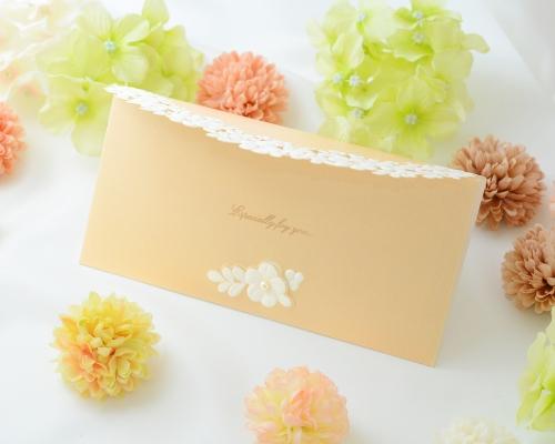 結婚式招待状(手作りキット) セントポーリアBE(ベージュ) サポート画像2 (拡大)