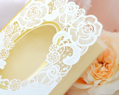 結婚式招待状(手作りキット) ピュール サポート画像2 (拡大)