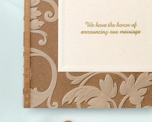 結婚式招待状(手作りキット) アダージョBW(ブラウン) サポート画像2 (拡大)