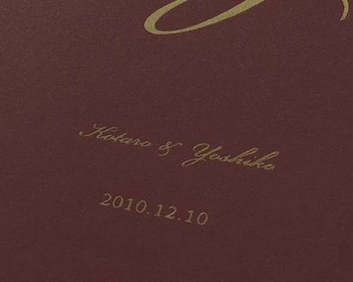 結婚式招待状(手作りキット) レガートPL(プラム)【Name on Card タイプ】 サポート画像2 (拡大)