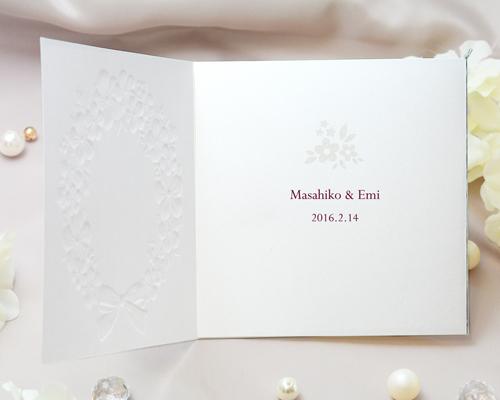 結婚式招待状(手作りキット) フェリチタWR(ワインレッド)【Name on Card タイプ】 サポート画像2 (拡大)