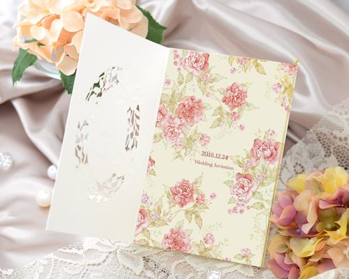 結婚式招待状(手作りキット) ノーブルWR(ワインレッド)【Name on Card タイプ】 サポート画像2 (拡大)