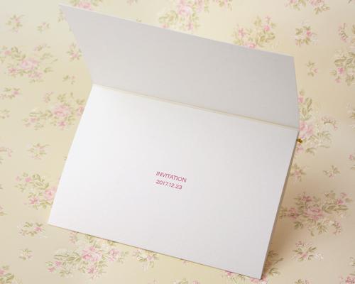 結婚式招待状(手作りキット) ベティA【Name on Card タイプ】 サポート画像2 (拡大)