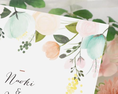 結婚式招待状(手作りキット) シェリールA【Name on Card タイプ】 サポート画像2 (拡大)