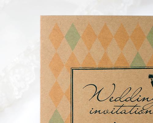 結婚式招待状(手作りキット) ラビリンスB【Name on Card タイプ】 サポート画像2 (拡大)